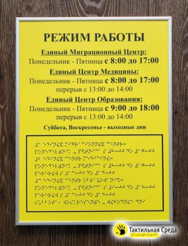 табличка-режим-работы-со-шрифтом-брайля-ЕМЦ-Воронеж